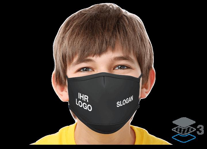 Junior - Mundschutzmaske mit Logo