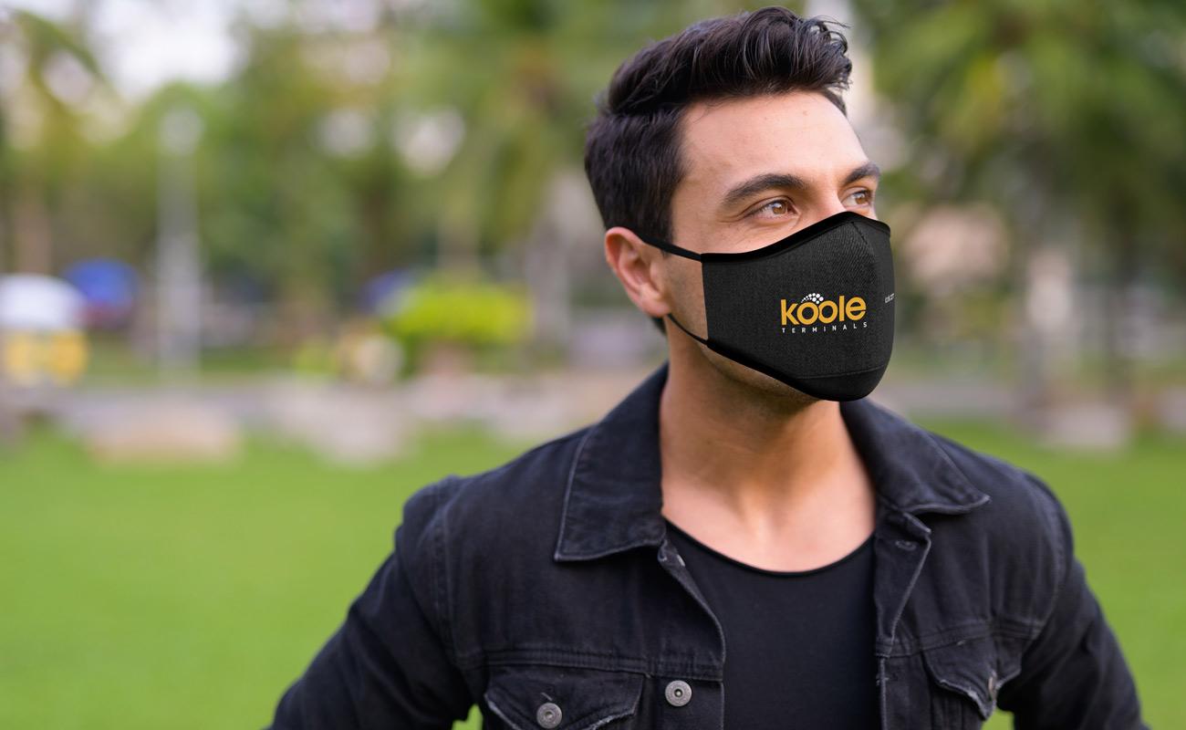 Denim - Schutzmasken mit Logo
