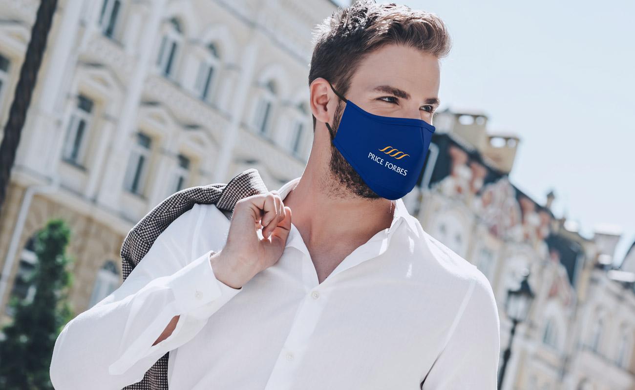 Sky - Schutzmasken mit Logo